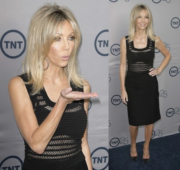 Heather Locklear rocks a form-fitting sheer dress at TNT's 25th Anniversary Party