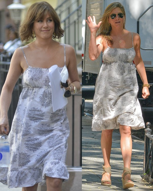 Jennifer Aniston on the set of Squirrels to the Nuts in Manhattan, New York City, on July 18, 2013