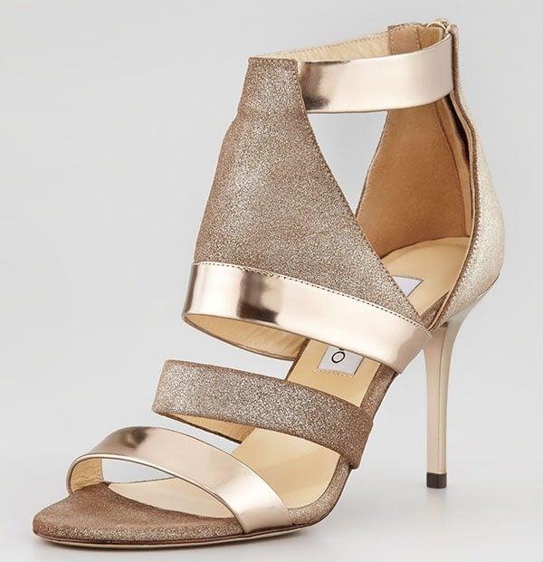 "Jimmy Choo ""Berlin"" Metallic Sandals"