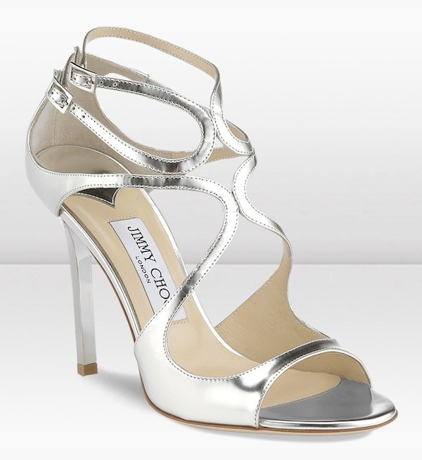 Jimmy Choo Lang Sandals in Silver