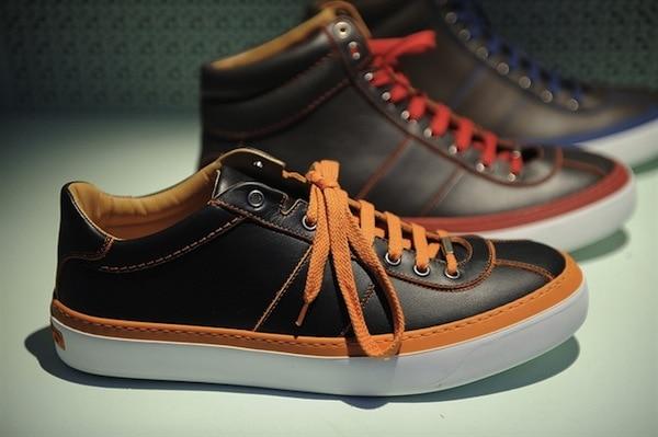 Jimmy Choo Men SS14 neon sneakers