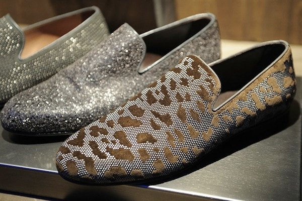 Jimmy Choo Mens SS14 blinged loafers