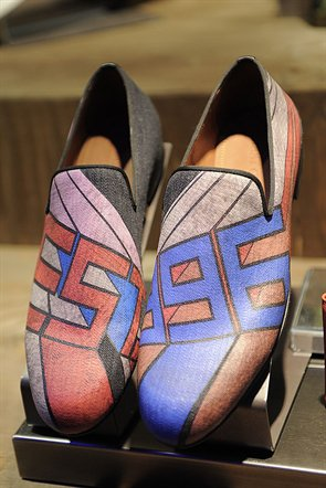 Jimmy Choo Mens SS14 graphic loafer
