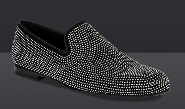 """Jimmy Choo """"Sloane"""" Suede Loafers with Mini Studs"""