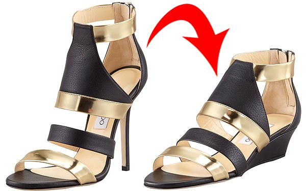 Jimmy Choo heels and flats