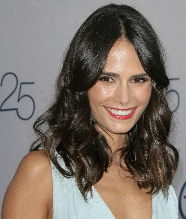 Jordana Brewster with sexy red lips at TNT's 25th Anniversary Party