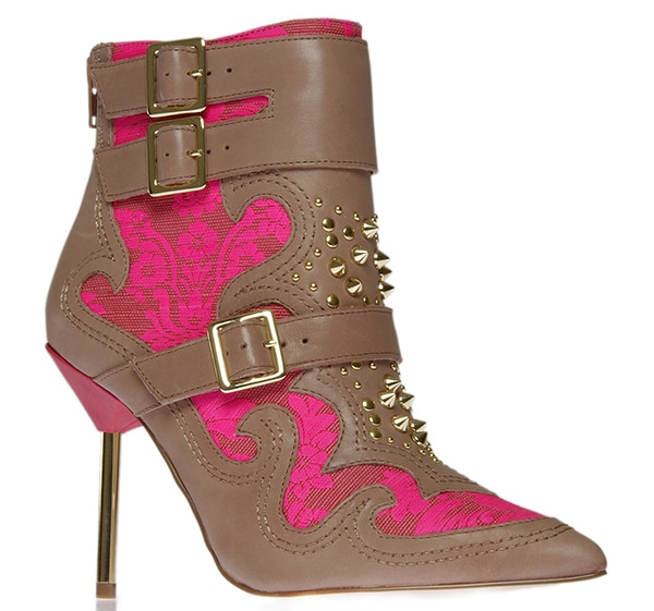 KG Kurt Geiger Wyatt Boots Taupe Pink