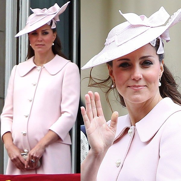 Kate Middleton or Catherine, Duchess of Cambridge, at the Trooping the Colour 2013 held during the Queen's Birthday Parade in London, England, on June 15, 2013