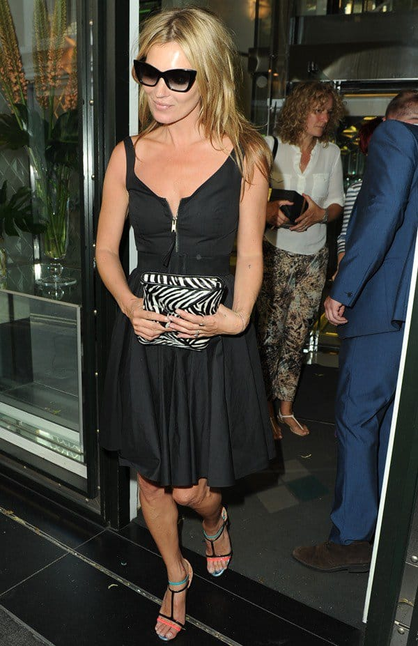 989123d4f Kate Moss in Rose Paris/Orange Christian Louboutin