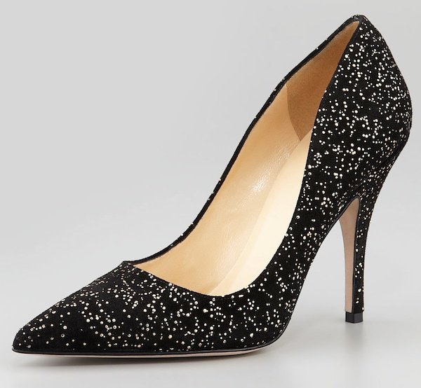 Kate Spade NY Licorice glitter pumps