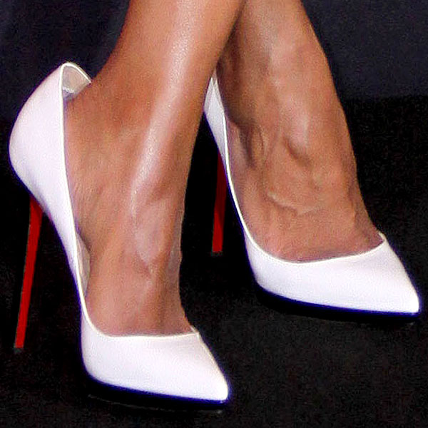 Kerry Washington white Christian Louboutin pumps