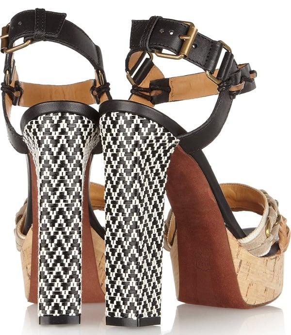 Lanvin Leather and Raffia Sandals2