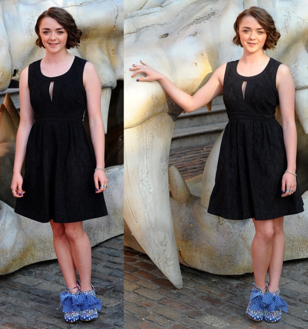 Maisie Williams at the Game of Thrones Season 3 launch at The New Armouries in London on July 18, 2013