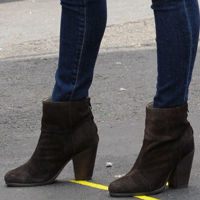 "Megan Fox in Rag & Bone ""Newbury"" boots"