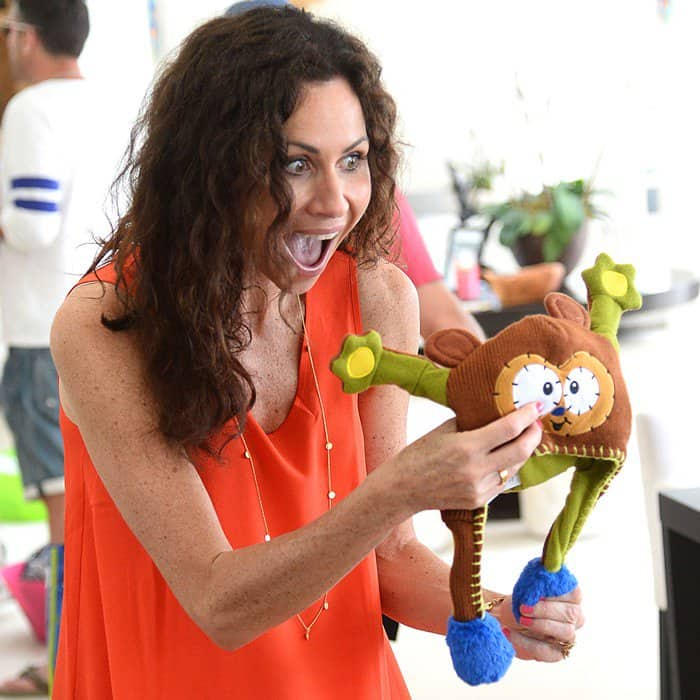 Minnie Driver at a children's birthday party at Revolve Beach House in Malibu, California, on July 21, 2013