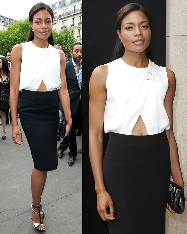 Naomie Harris Paris Fashion Week