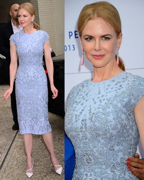 Nicole Kidman at Cinema for Peace dinner in honor of UN Women at Soho House in Berlin, Germany, on July 12, 2013