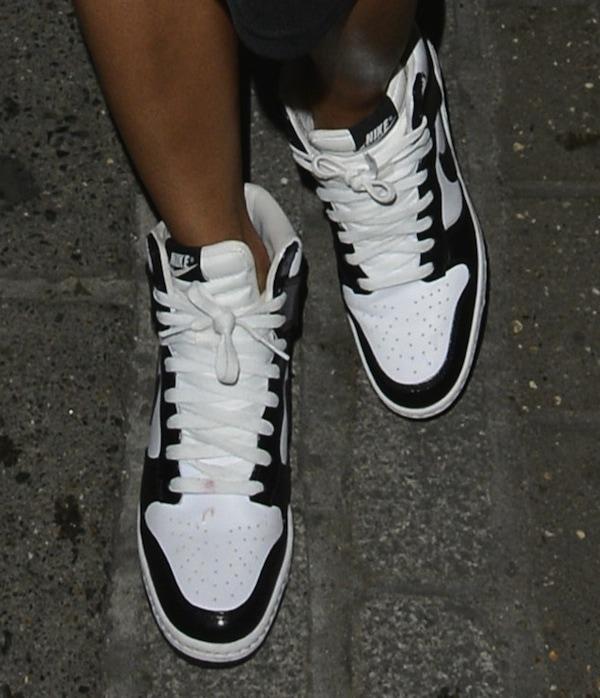 official photos 84411 560bb Nicole Scherzinger rocks Nike Dunk Sky Hi sneaker wedges