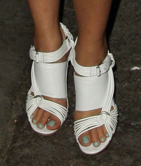 Rita Ora'sblock heel sandals from Damir Doma's Spring 2013 collection