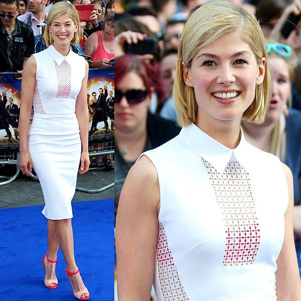 Rosamund Pike at the world premiere of 'The World's End'