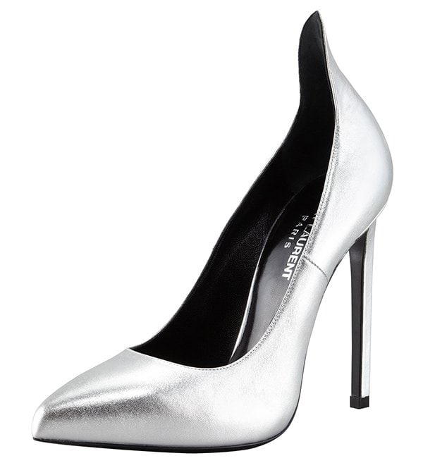 Saint Laurent Metallic Exaggerated-Heel Pumps