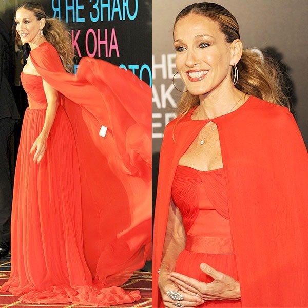 Sarah Jessica Parker at the film presentation of 'I Don't Know How She Does It' at Ritz Carlton hotel in Moscow, Russia, on August 28, 2011