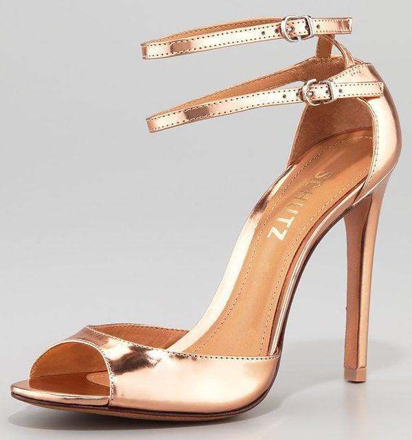Schutz Imalia Evening Sandal in Rose Gold
