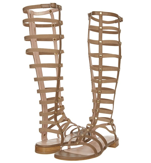 Stuart Weitzman Gladiator Sandals in Truffle