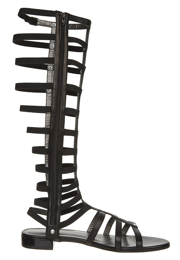 Stuart Weitzman Gladiator Sandals in Black