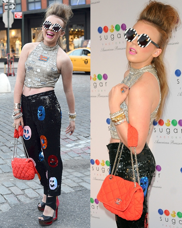 Tallia Storm at Sugar Factory American Brasserie Grand Opening in Manhattan, New York City, on June 20, 2013
