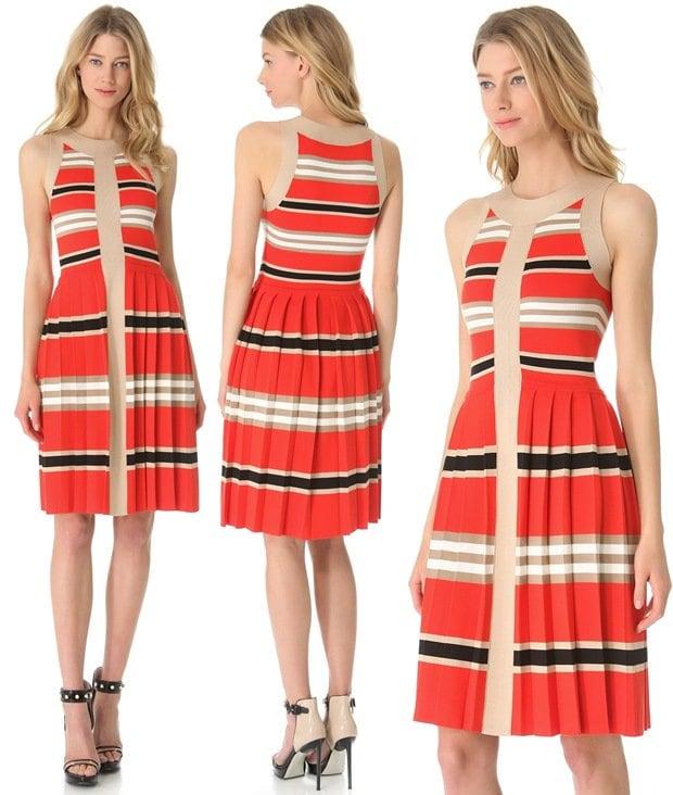 Temperley-London-Alexis-Striped-Dress