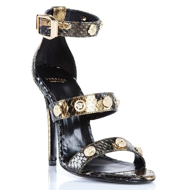 Versace Signature Python Sandals