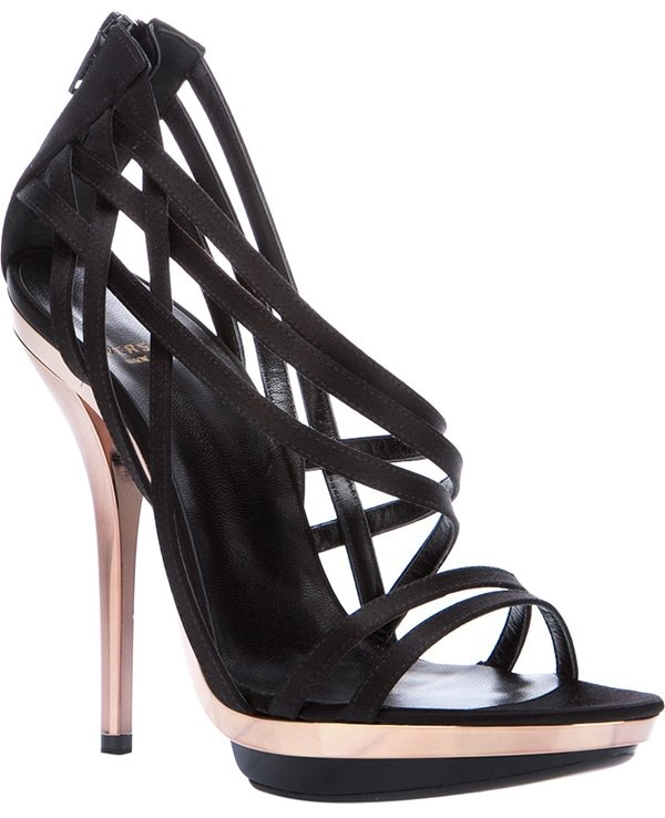 Versace Strappy Stiletto Sandals