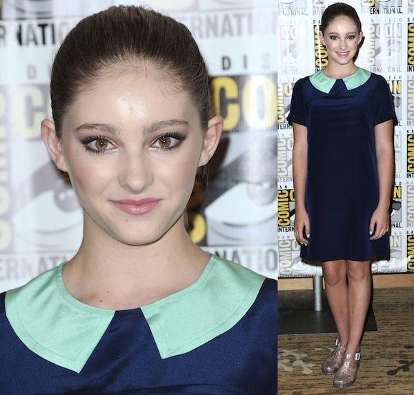 Willow Shields in an age-appropriate preppy dress paired with jelly sandals at Comic-Con 2013 in San Diego, California, on July 20, 2013