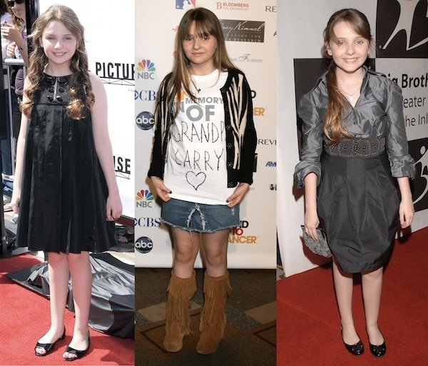 Little Miss Sunshine star Abigail Breslin wearing dresses and flats on the red carpet in 2008
