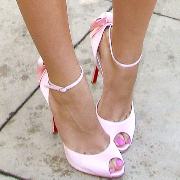 Zendaya Coleman wearing Christian Louboutin Dos Noeud heels