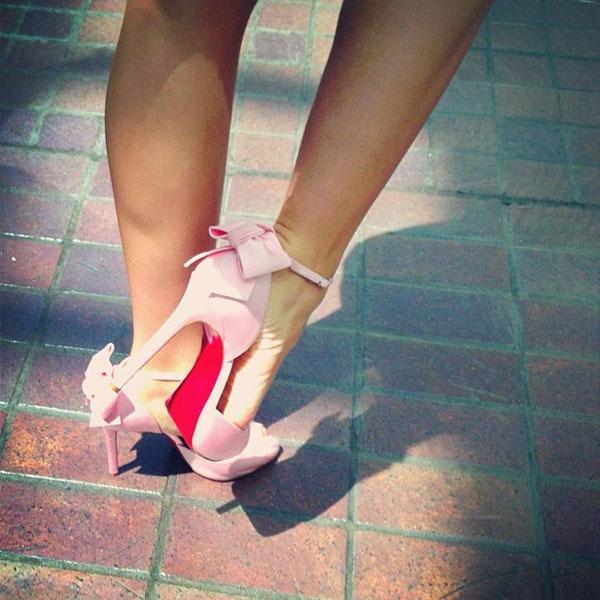 Zendaya Coleman's Christian Louboutin Dos Noeud heels