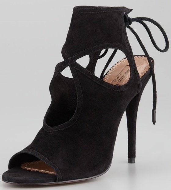 aquazurra sexy thing cutout sandals in black