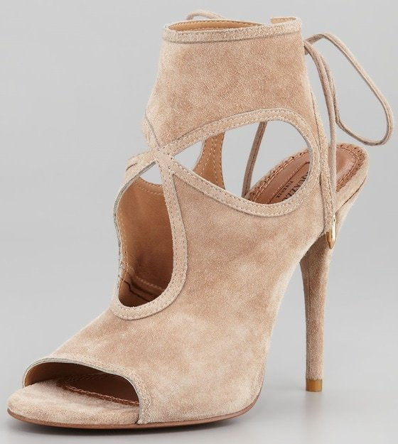 aquazurra sexy thing cutout sandals in nude
