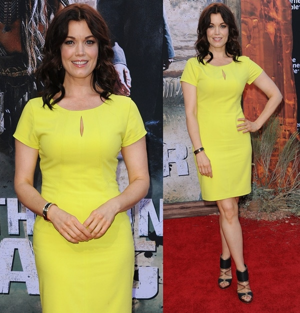 Bellamy Young at the world premiere of Disney's 'The Lone Ranger' in Anaheim, California, on June 22, 2013