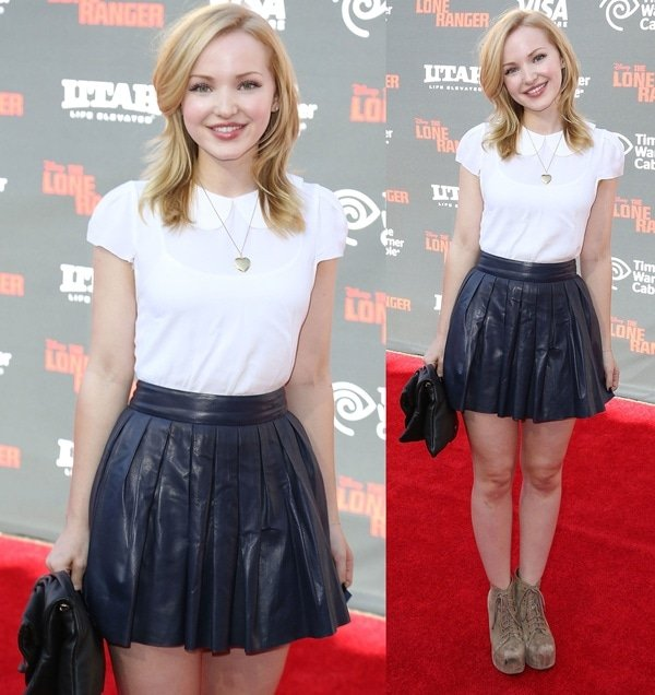 Dove Cameron at the world premiere of Disney's 'The Lone Ranger' in Anaheim, California, on June 22, 2013