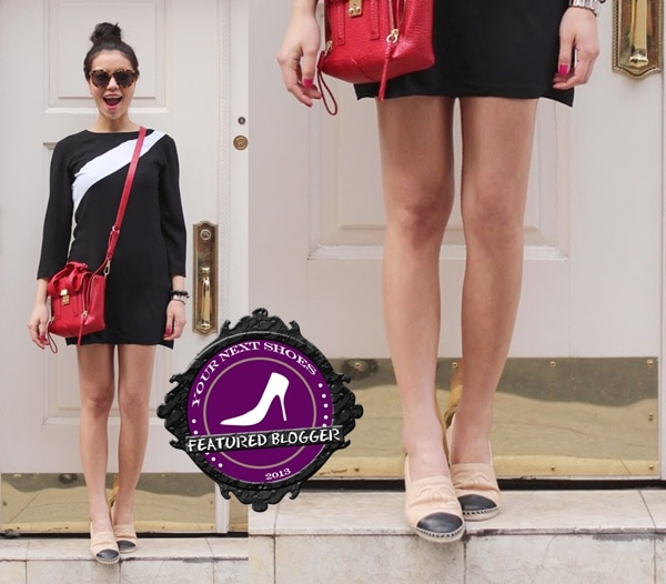 Leah in Chanel espadrille flats