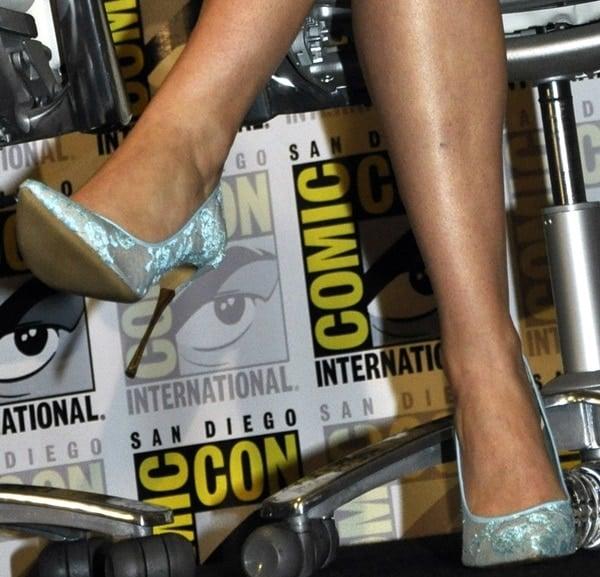 Jennifer Lawrence Comic-Con Nicholas Kirkwood Pumps X Men