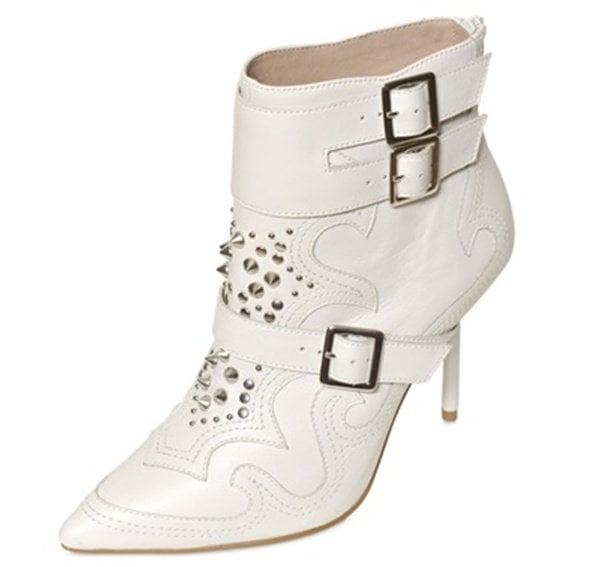 kurt geiger studded leather ankle boots