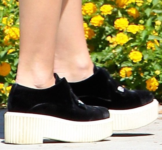 Miley Cyrus Trader Joes Black Chanel Creepers