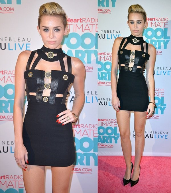 Miley Cyrus attends the iHeartRadio Ultimate Pool Party
