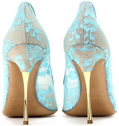 nicholas kirkwood lace pumps with gold metal heel 2