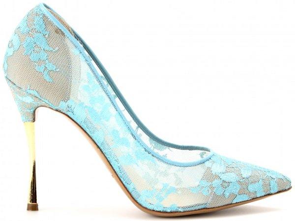 nicholas kirkwood lace pumps with gold metal heel 3