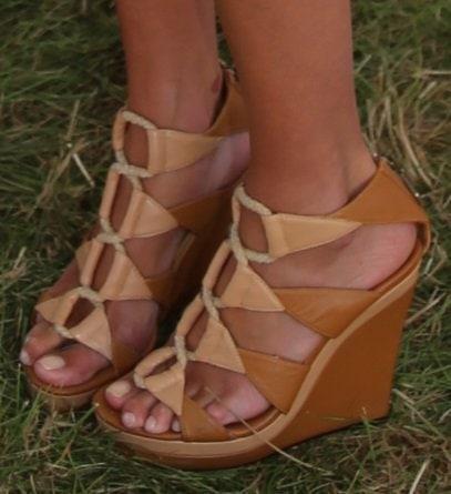 Nicky Hilton showing off her feet in Diane von Furstenberg 'Theia' wedges
