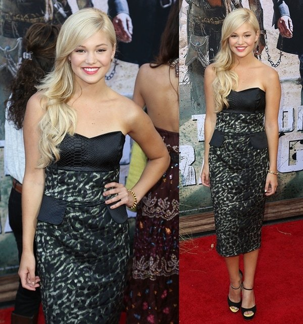 Olivia Holt at the world premiere of Disney's 'The Lone Ranger' in Anaheim, California, on June 22, 2013